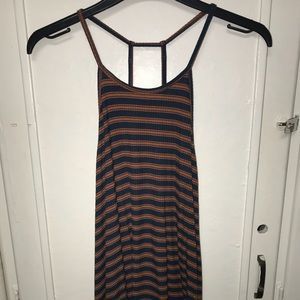 Blue and Orange striped tank top